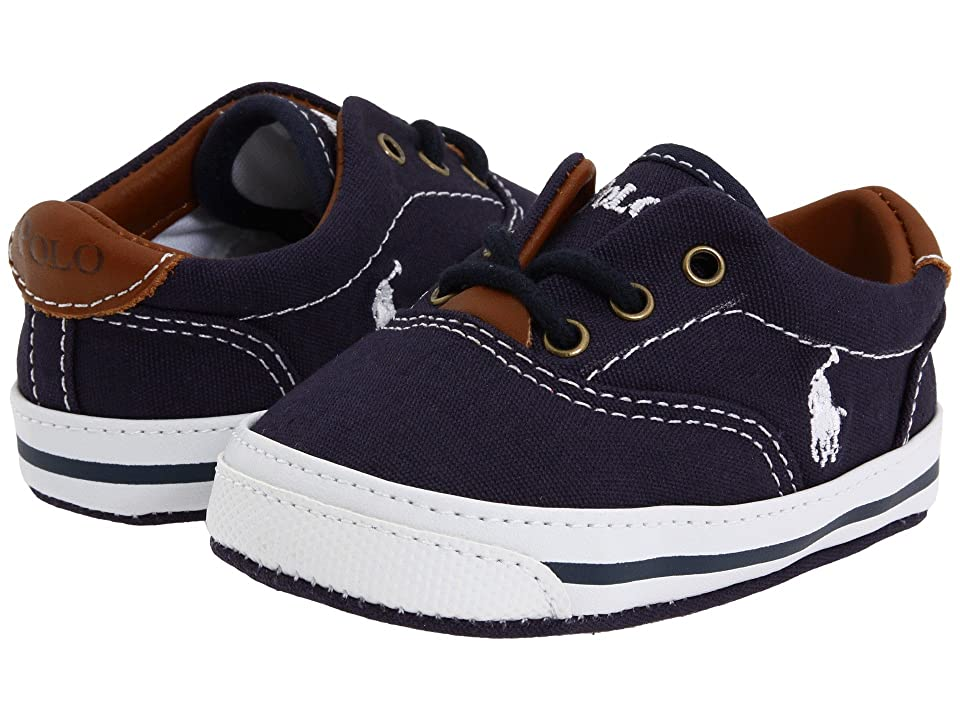 Polo Ralph Lauren Kids Vaughn Soft Sole (Infant/Toddler) (Navy Canvas 2) Boy