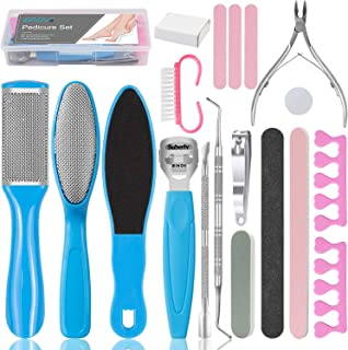 EAONE Professional Pedicure Tools Set 20 in 1, Foot Care Kit Stainless Steel Foot Rasp Foot Dead Skin Remover Pedicure Kit...