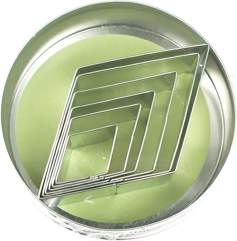 Fox Run 3612 Diamond Cookie Cutters 4 X 4 X 0 25 Inches Metallic