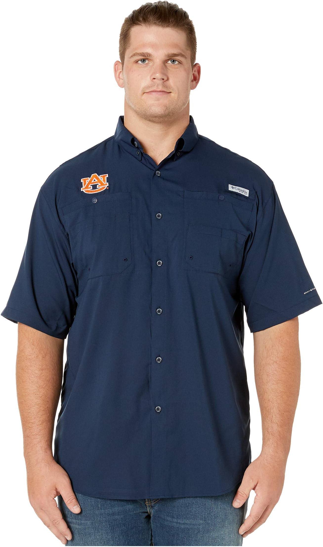 Columbia College Big & Tall Auburn Tigers Collegiate Tamiami�?II Short Sleeve Shirt LDoxQ