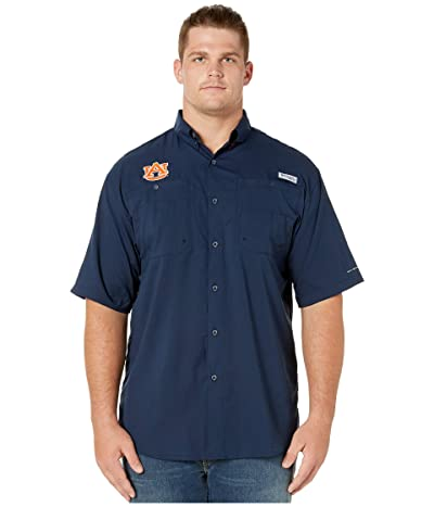 Columbia College Big Tall Auburn Tigers Collegiate Tamiamitm II Short Sleeve Shirt (Collegiate Navy) Men
