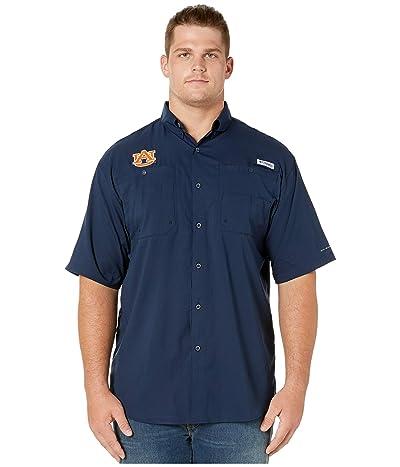 Columbia College Big Tall Auburn Tigers Collegiate Tamiami II Short Sleeve Shirt (Collegiate Navy) Men