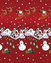 Noel Xmas/Christmas Santa & Friends Polar Fleece, Throw Blanket, Suitable for Chair or Bed, Machine Washable, 127cm x 152cm,