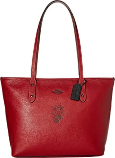Womens Minnie Mouse City Zip Tote with Motif ¿Disney x COACH