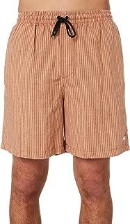 Stussy Men's Scoot Stripe Mens Linen Short Cotton Linen Grey