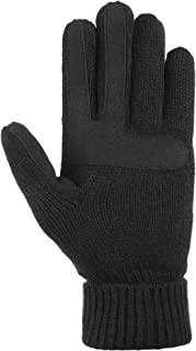 Women's Smartouch Solid Triple Cable Knit Glove with Palm Patches