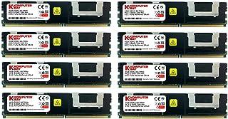 Komputerbay KB_32GB_8X4GB_667_FBDIMM_4Rx4_HS 32GB (8X 4GB) 240 Pin 667MHz PC2-5300F DDR2 CL5 ECC Fully Buffered FB-DIMM Me...