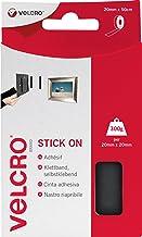 VELCRO Brand VEL-EC60225 klittenband zelfklevend, 20 mm x 50 cm rolzwart, 20 mm x 50 cm