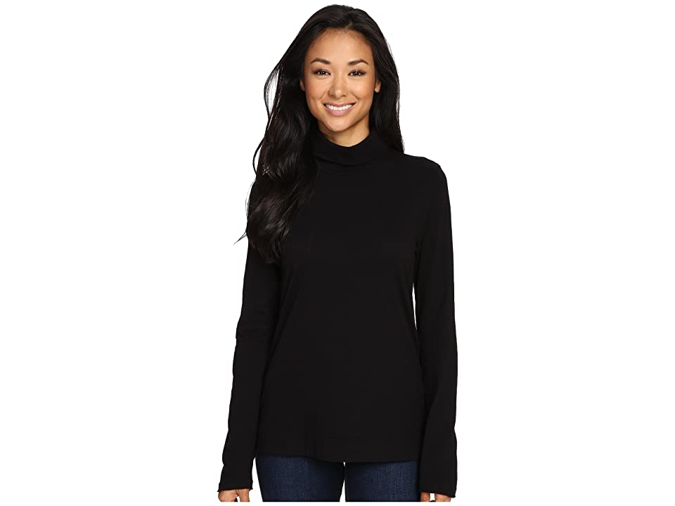 Three Dots Davida Long Sleeve Turtleneck (Black) Women