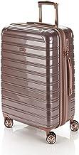Flylite I-Deluxe 67cm Hard Suitcase Luggage Trolley Rose Gold Medium
