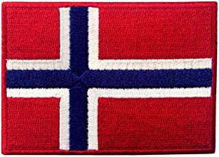 Norway Flag Embroidered Emblem Norwegian National Iron On Sew On Patch