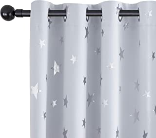 Utopia Decor Blackout Curtains Star Print Pattern Thermal...