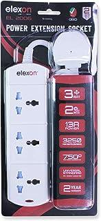 ELEXON POWER EXTENSION SOCKET WITH WARRANTY 3W; 2-MTR. EL2006