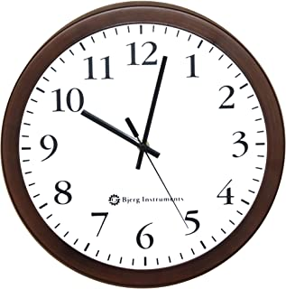 """Bjerg Instruments Modern 12"""" Steel Enclosure Silent Wall Clock with Non Ticking Movement (Bronze)"""