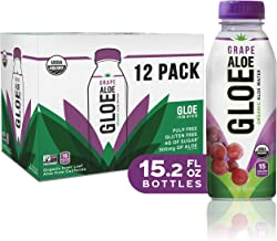 Aloe Gloe, Organic Aloe Water, White Grape, 15.2-Ounce (Pack of 12)