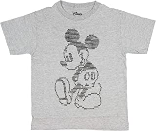 Disney T Shirt Mickey Mouse Tee Cartoon Character Pixel Boy's Top