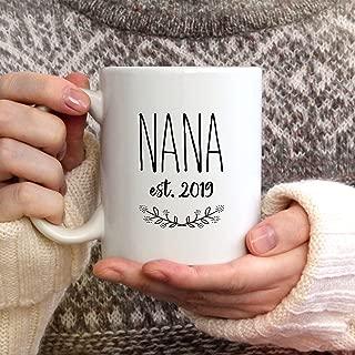 Nana EST Mug Rae Dunn Inspired Nana Coffee Mug Gift for Nana Nana Cup Nana Gift for Christmas Birthday Nana Present Pregnancy Reveal