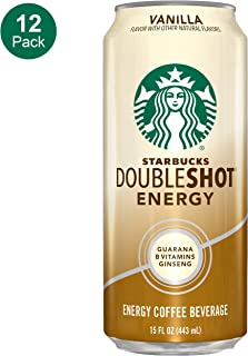 Starbucks, Doubleshot Energy Coffee, Vanilla, 15 Fl Oz (Pack of 12)