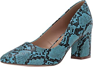 Penny Loves Kenny Women's Print Pump, Turquoise Faux Snake, 6.5 US medium