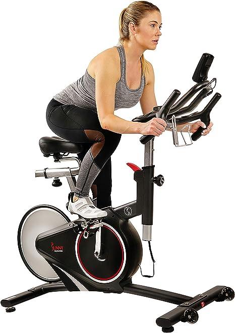 Sunny Health & Fitness Exercise Bike with RPM Cadence Sensor