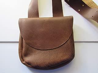 leather black powder bag