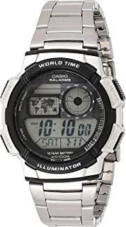Casio Men's Grey Dial Steel Band Watch - AE-1000WD-1AVDF