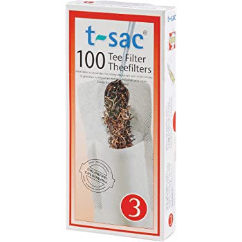 T-Sac Tea Filter Bags, Disposable Tea Infuser, Number 3-Size, 3 to 8-Cup Capacity, Set of 100