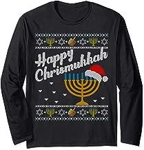 Happy Chrismukkah tee Merry Christmas Ugly Hanukkah Sweater Long Sleeve T-Shirt