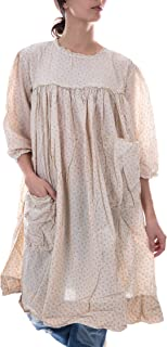 European Cotton Milah Dress with Front Pockets, Ba