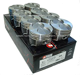 Set of (8) Ford 351W 5.8L Speed Pro Hypereutectic Coated Skirt Flat Top Pistons 4.030