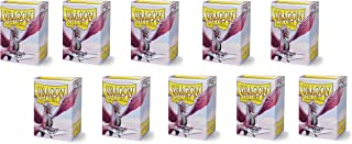 10 Packs Dragon Shield Matte Pink Standard Size 100 ct Card Sleeves Display Case