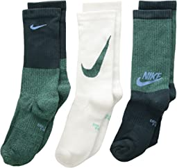Performance Cushioned Mesh Crew Training Socks 3-Pair Pack (Little Kid/Big Kid)