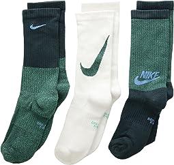 Nike Kids Performance Cushioned Mesh Crew Training Socks 3-Pair Pack (Little Kid/Big Kid)