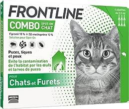 Merial - Gatti - FRONTLINE COMBO - Cat - 6pip - Anti-pulci e anti-zecche