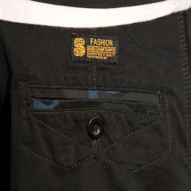 Wantess Men's Cargo Shorts Fashion Trend Multi-Pocket Camouflage Print Casual