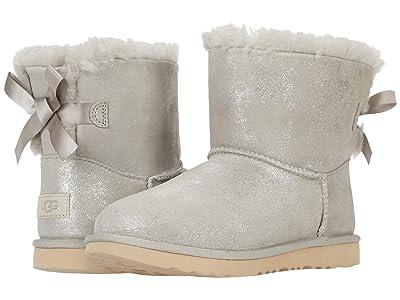 UGG Kids Mini Bailey Bow II Shimmer (Little Kid/Big Kid) (Goat) Girls Shoes