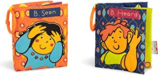 B. toys by Battat Two Soft Baby Books – Fabric Cloth Books for Babies – Interactive Sounds & Illustrations – NonToxic Todd...