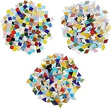 Belle Vous Mozaïek Gemixte Kleuren Tegels in 3 Vormen (600Pak/480g) – Diamanten (2x 1,2cm), Driehoeken (1,5 x 1,5 x 1,5cm)...