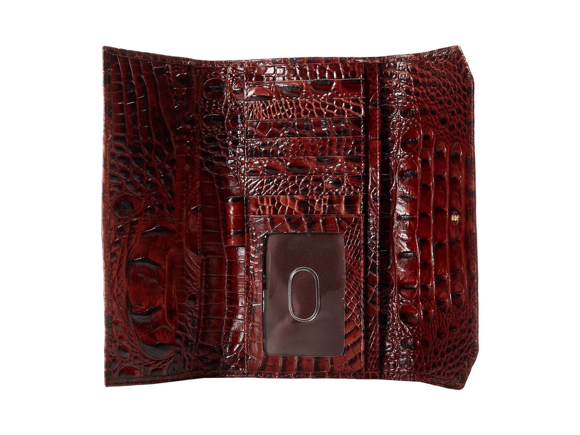 Melbourne Soft Brahmin Wallet Checkbook Pecan gd5w8qpwx