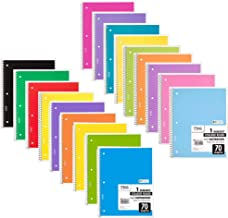 Mead Spiral Notebook, PACK OF 18 DIFFERENT COLORS, 1-Subject College Ruled Spiral Bound Notebooks, Included Pastel Color C...
