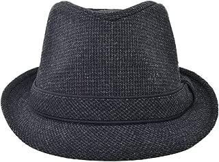 Men's Women's Manhattan Structured Gangster Trilby Fedora Hat