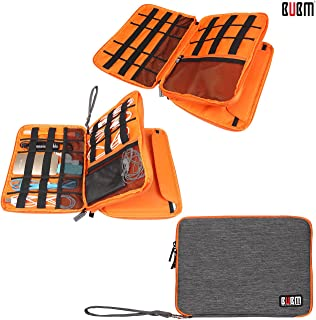 BUBM Waterproof Double Layer Universal Cable Organizer Electronics Accessories Storage Carrying Bag Travel Wire Storage Bag Hard Drive Cable X-Large