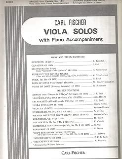 Arioso from Cantata No.156 Viola Solo with Piano Accompaniment