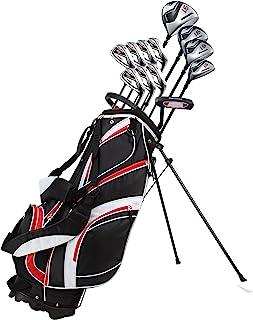 18 Piece Men's Complete Golf Club Package Set With Titanium Driver, #3 & #5..