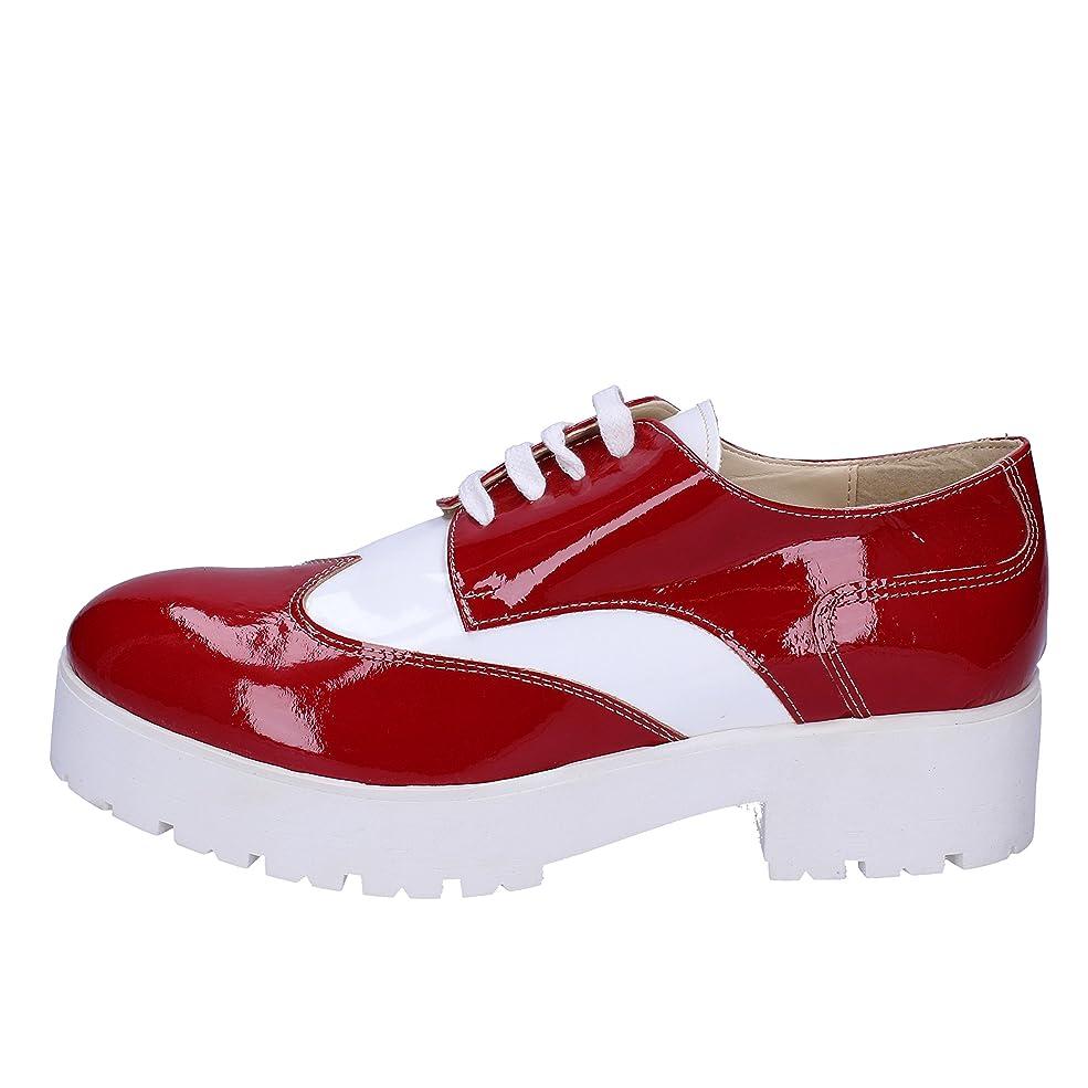 くぼみオゾンスチール[CRUZ] 古典的な女性の靴 レディース パテント レッド