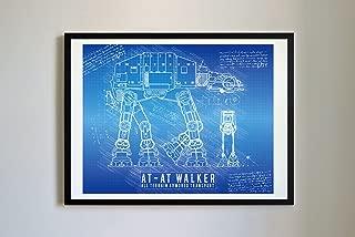 DolanPaperCo 116 StarWars AT-AT Art Print, da Vinci Sketch – Unframed – Multiple Size/Color Options (8x10, Blueprint)