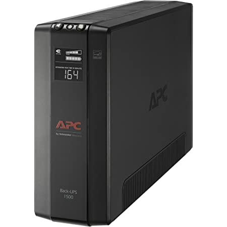 APC UPS, 1500VA UPS Battery Backup & Surge Protector, BX1500M Backup Battery, AVR, Dataline Protection and LCD Display, Back-UPS Pro Uninterruptible Power Supply