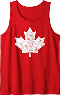 Canada Maple Leaf Vintage Red Canadian Flag Canada Day Tank Top