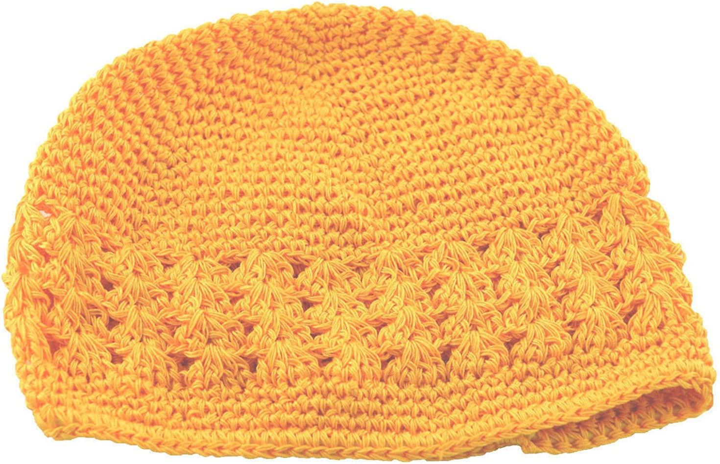 MM Kufi Hat Crochet Yellow We OFFer at cheap Lowest price challenge prices Beanie Gold Cap