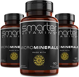 (3 Bottles) Powerful ZINC Glycinate from Albion® Boosted with 5 Extra Essential Trace Minerals to Support Metabolism, DNA and Enhanced Supplement 90 Plant-Based Vegan Capsules